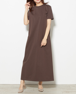 AURALEE /ORGANIC COTTON COMPACT JERSEY ONE-PIECE