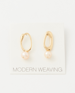 MODERN WEAVING/ピンクパールピアス