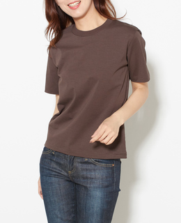 AURALEE/ORGANIC COTTON COMPACT JERSEY TEE