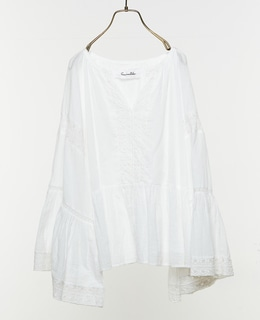 Cotton Gauze Lace Big Sleeve Top ブラウス
