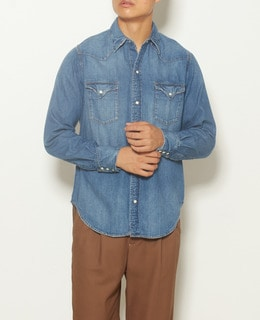 【men's】RED CARD/レッドカード ダンガリーシャツ Hollywood ASH002-md