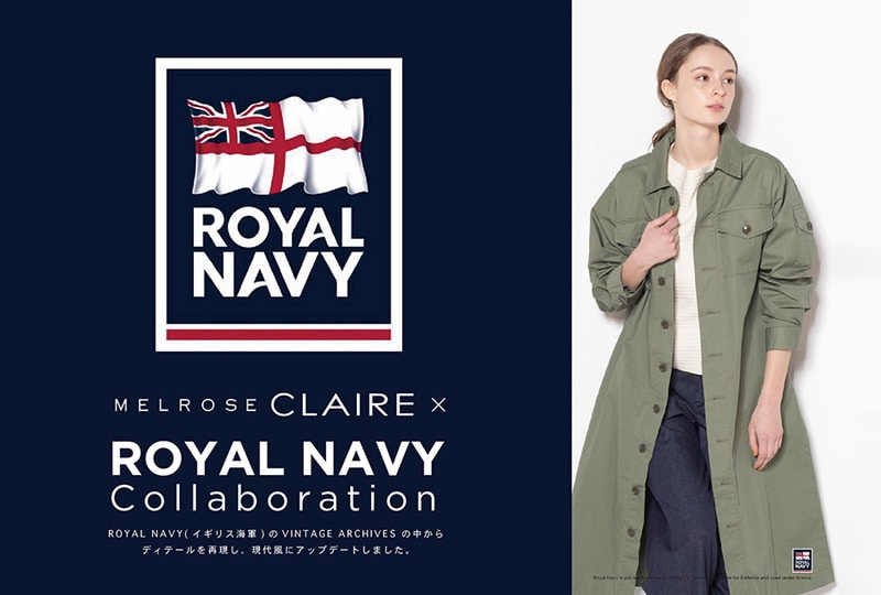 MELROSE CLAIRE × ROYAL NAVY Collaboretion